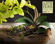 ORCHIDEA ARTIFICIALE SU TRONCO NATURALE